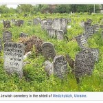 Graves in Medzhibozh Ukraine (from Wikipedia - shtetl)